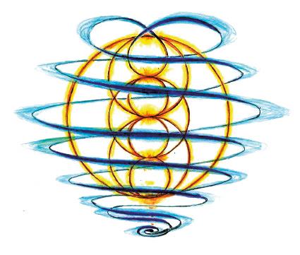 Forma delle Biospirali - Disegno originale di Franco Mescola